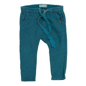 Zara Baby Girl Teal Waffle Knit Pull On Pants